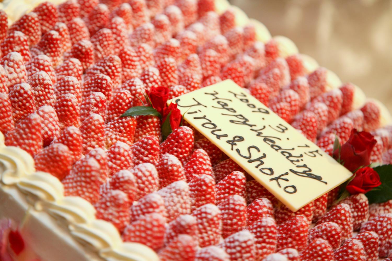 イチゴのケーキはやっぱり王道   愛媛県西条市の結婚式場ベルフォーレ西条