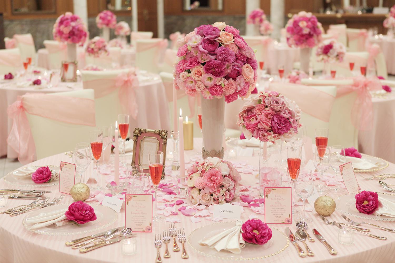 ローズピンクのカラーコーデでプリンセス感満載! | 愛媛県西条市の結婚式場ベルフォーレ西条