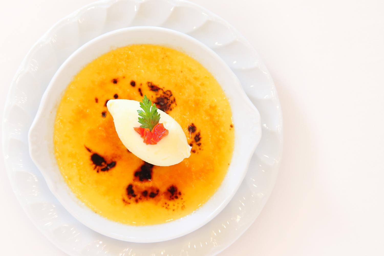 【デザート】クレームブリュレ バニラアイス添え | 愛媛県西条市の結婚式場ベルフォーレ西条